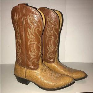 Nocona Two Tone Cowboy Boots Size: 10 B